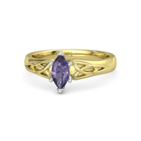 Marquise Iolite 14K Yellow Gold Ring