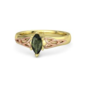 Marquise Green Tourmaline 14K Yellow Gold Ring
