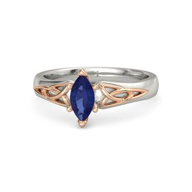 Marquise Blue Sapphire 18K White Gold Ring