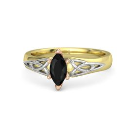 Marquise Black Onyx 18K Yellow Gold Ring