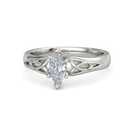 Marquise Diamond 14K White Gold Ring Fiona Marquise Ring