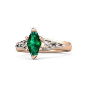 Marquise Emerald 14K Rose Gold Ring