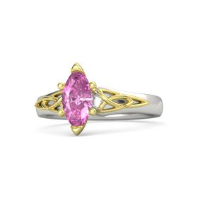 Marquise Pink Sapphire 14K White Gold Ring
