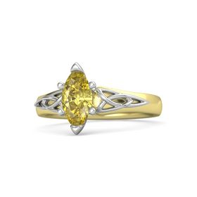Marquise Yellow Sapphire 14K Yellow Gold Ring