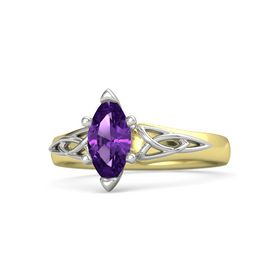 Marquise Amethyst 14K Yellow Gold Ring