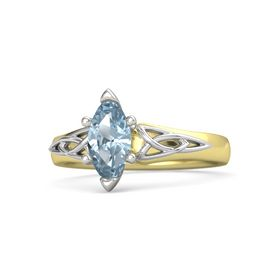 Marquise Aquamarine 14K Yellow Gold Ring