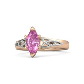 Marquise Pink Sapphire 18K Rose Gold Ring