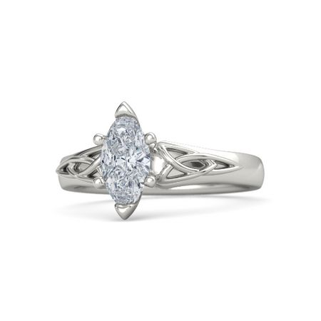 i shape platinum engagement diamond si intertwined setting art in deco h marquise marquee ring