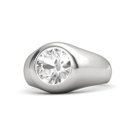 Round Rock Crystal Sterling Silver Ring
