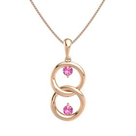 14K Rose Gold Necklace with Pink Tourmaline