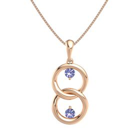 14K Rose Gold Pendant with Tanzanite