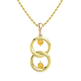 14K Yellow Gold Necklace with Citrine