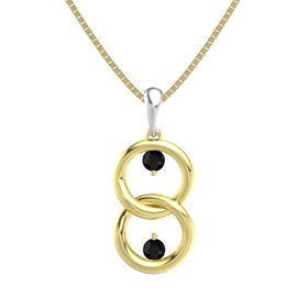 14K Yellow Gold Necklace with Black Onyx