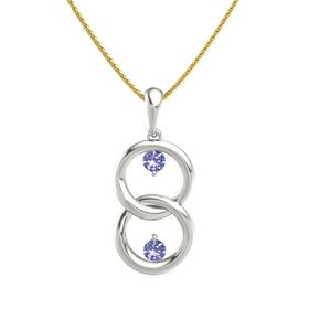 Platinum Necklace with Tanzanite