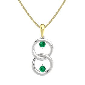 Sterling Silver Necklace with Emerald