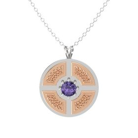 Round Iolite Sterling Silver Pendant