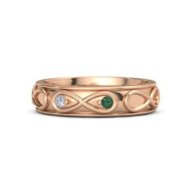 14K Rose Gold Ring with Diamond & Alexandrite