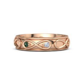 14K Rose Gold Ring with Alexandrite & Diamond