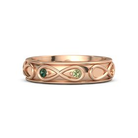 14K Rose Gold Ring with Alexandrite and Peridot
