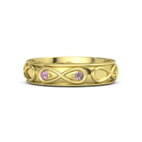 14K Yellow Gold Ring with Pink Tourmaline & Rhodolite Garnet