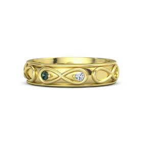 14K Yellow Gold Ring with Alexandrite & Diamond