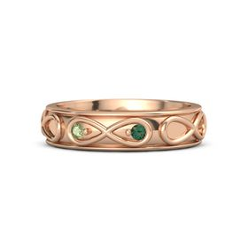 18K Rose Gold Ring with Peridot and Alexandrite
