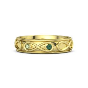 18K Yellow Gold Ring with Peridot and Alexandrite