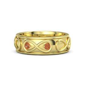 14K Yellow Gold Ring with Fire Opal