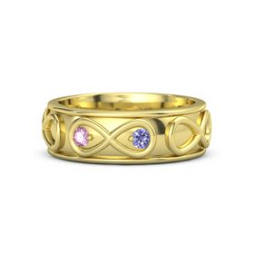 14K Yellow Gold Ring with Pink Sapphire & Iolite