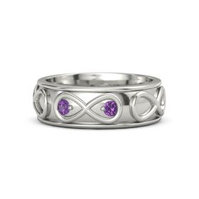 18K White Gold Ring with Amethyst