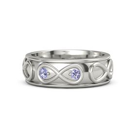 Platinum Ring with Tanzanite