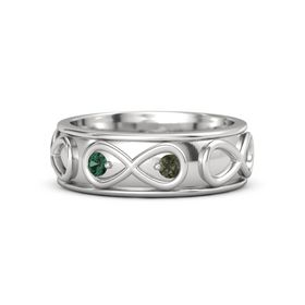 Sterling Silver Ring with Alexandrite & Green Tourmaline