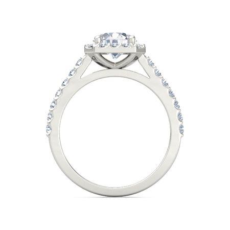 Adele Ring - Round Diamond 14K White Gold Ring with Diamond