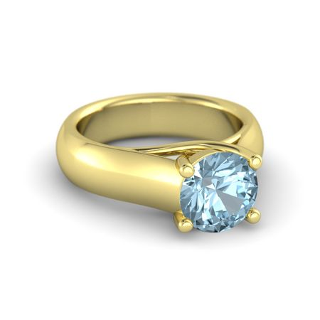 Crisscross Round Solitaire Ring