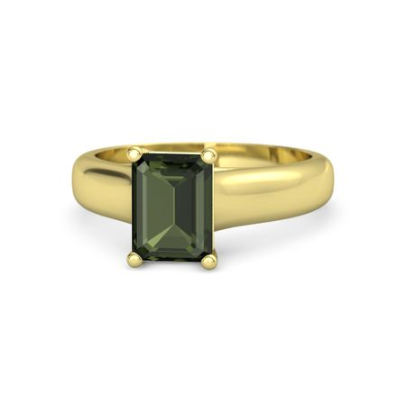 Sleek Emerald-Cut Solitaire Ring
