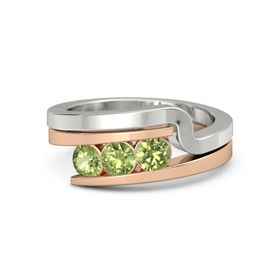 Round Peridot 14K Rose Gold Ring with Peridot