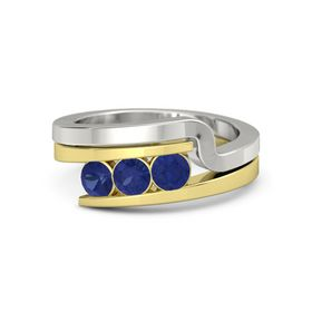 Round Sapphire 14K Yellow Gold Ring with Sapphire