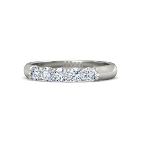 Round Diamond 14K White Gold Ring with Diamond