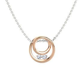Round Diamond 14K Rose Gold Pendant with Diamond