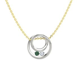 Round Alexandrite 14K White Gold Pendant with Diamond