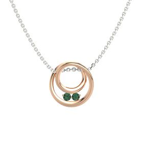 Round Alexandrite 18K Rose Gold Pendant with Alexandrite