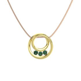 Round Alexandrite 14K Yellow Gold Pendant with Alexandrite