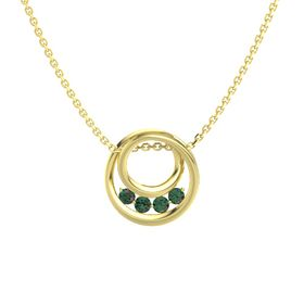 Round Alexandrite 14K Yellow Gold Necklace with Alexandrite