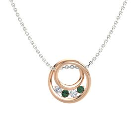 Round Alexandrite 18K Rose Gold Necklace with Diamond
