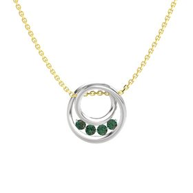 Round Alexandrite Sterling Silver Necklace with Alexandrite