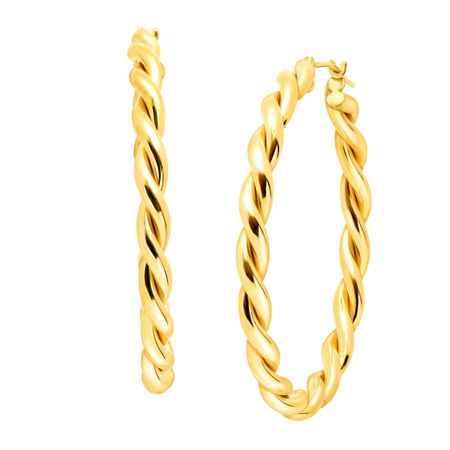 40 mm Twist Hoop Earrings