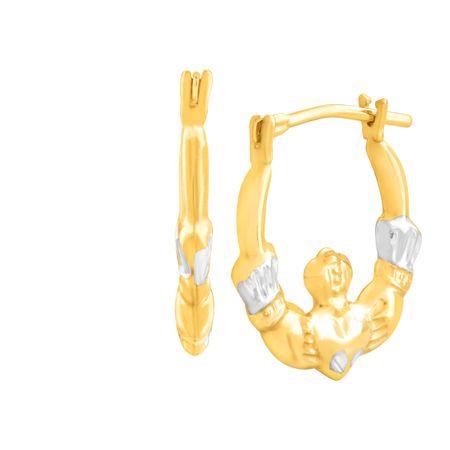 Pee Claddagh Hoop Earrings