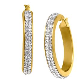 Hoop Earrings with Swarovski Crystal
