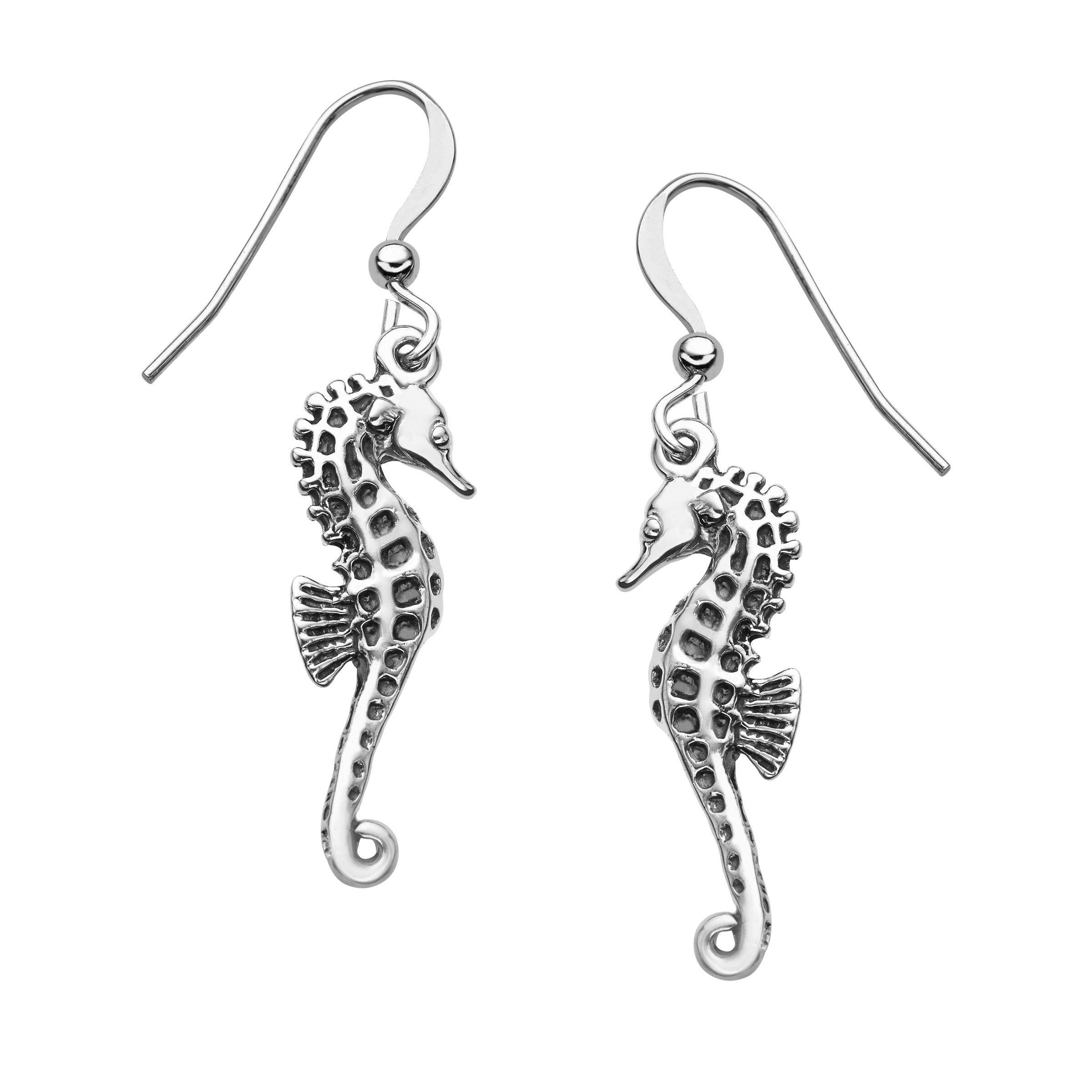 Kabana Seahorse Drop Earrings In Sterling Silver