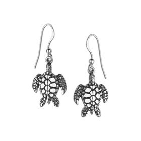 Pebbled Sea Turtle Drop Earrings